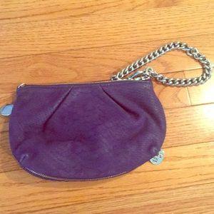 Purple Henri Bendel clutch